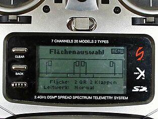 Spektrum Senderprogrammierung. Ansicht Display Teil 1