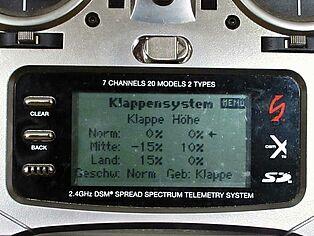 Spektrum Senderprogrammierung. Ansicht Display Teil 3
