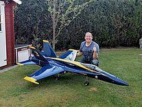 Modellflugjet F18 Hornet