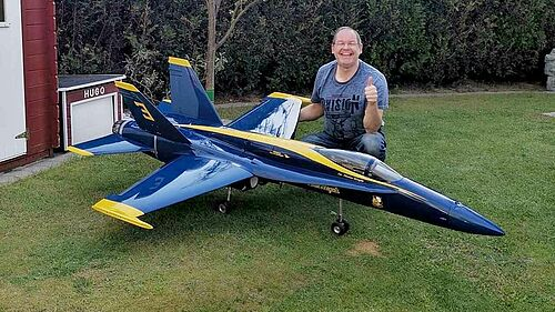 Mein Erstflug F18 Generic Fly 1:7,5 beim LMFC 3.7.2020, Dr.Düsentrieb