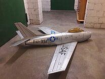 Foto einer North American F-86 Sabre