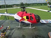 RC BO 105 von Eflite in Rot