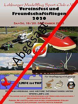 Plakat Einladung Vereinsfest 2020