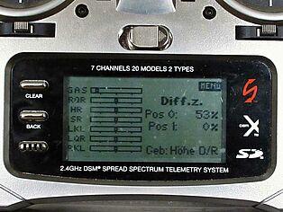 Spektrum Senderprogrammierung. Ansicht Display Teil 2