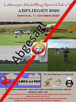 Plakat Abfliegen 2020