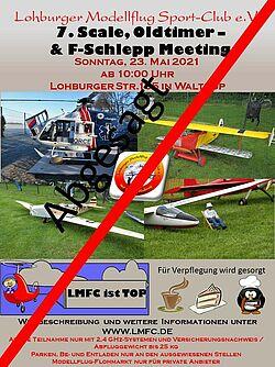 Plakat vom F-Schlepp Meeting 2021