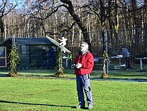 Foto mit Jürgen und seinem Skysurfer