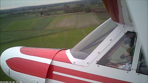 Piper Super Cub 25e von Horizon am 20.Dez.2015 beim LMFC, Dr.Düsentrieb