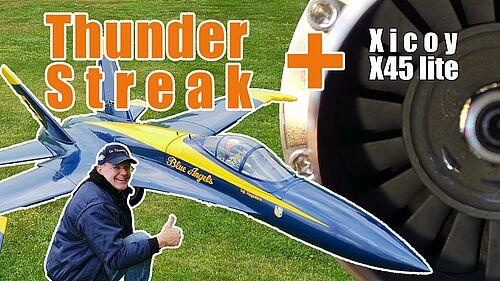 Thunder Streak von Phoenix [1:6] mit Xicoy X-45 light - Unboxing & Flug, Dr.Düsentrieb