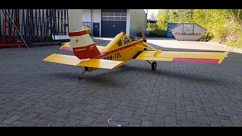 1. Rollout meiner PZL 106BR Kruk, Jürgen Wertz