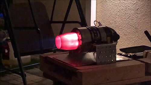 Testlauf Turbine Behotec JB180 Gold, glühend Heiß, Dr.Düsentrieb